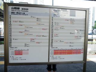 鳥取駅 時刻表